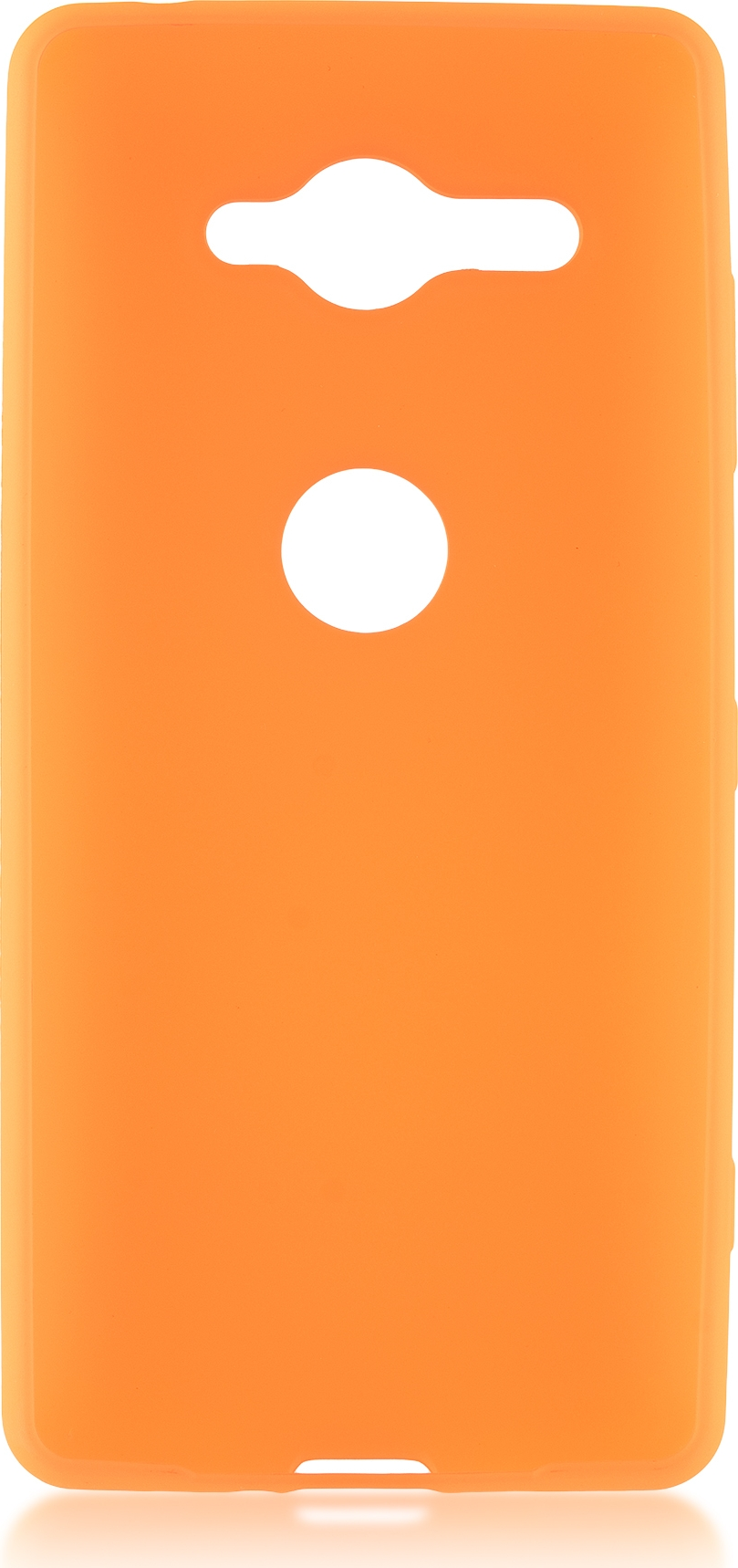 Чехол Brosco Colourful для Sony Xperia XZ2 Compact, оранжевый аксессуар чехол для sony xperia xz2 compact brosco transparent xz2c tpu transparent