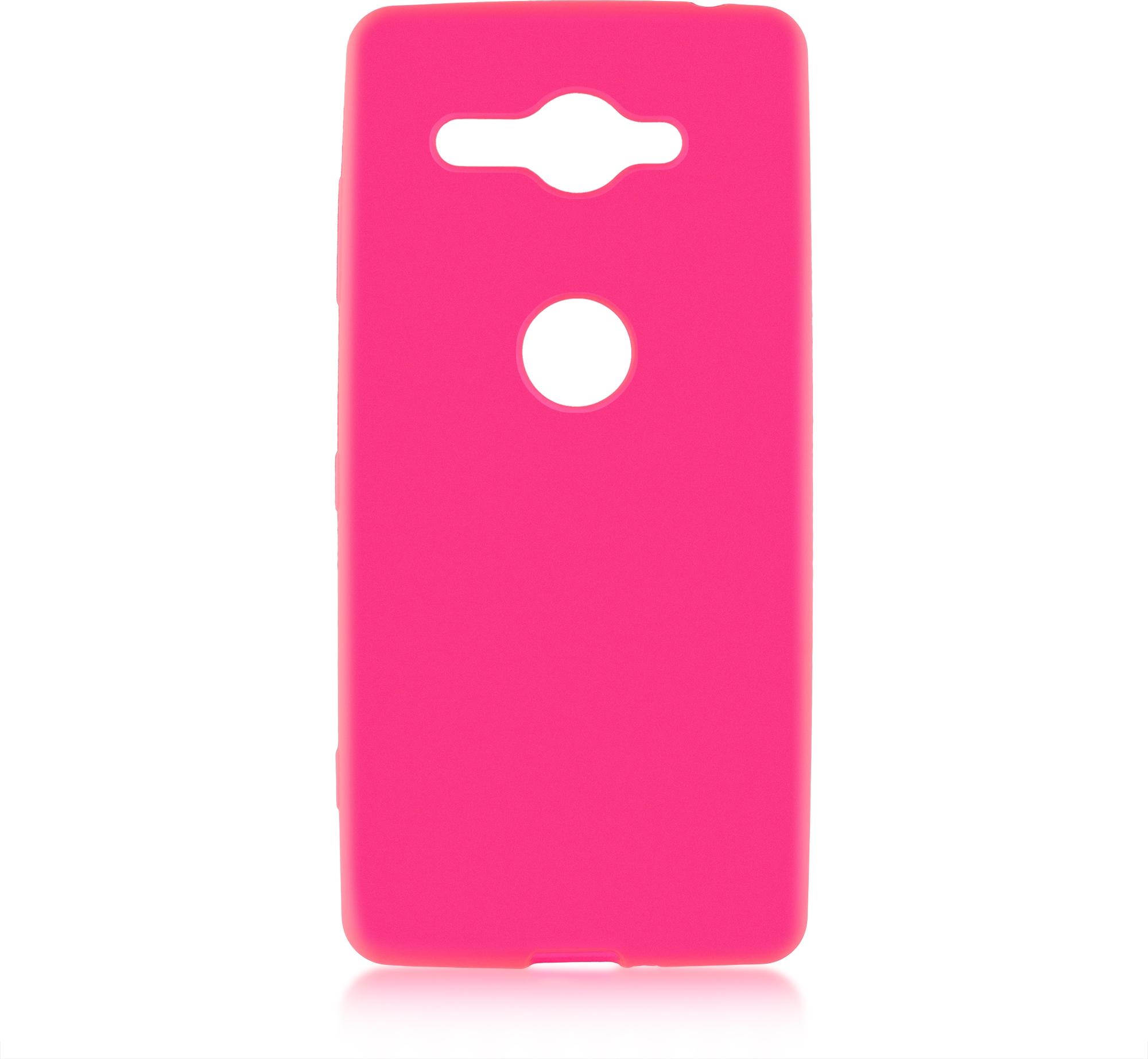 Чехол Brosco Colourful для Sony Xperia XZ2 Compact, розовый аксессуар чехол для sony xperia xz2 compact brosco transparent xz2c tpu transparent