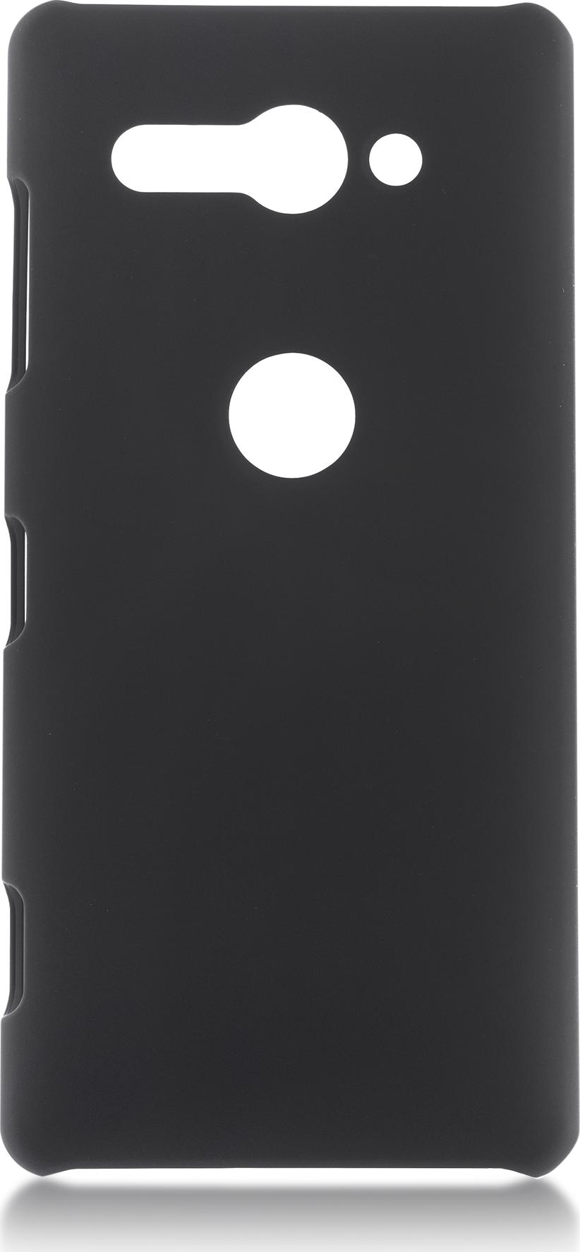 Чехол Brosco Soft-Touch для Sony Xperia XZ2 Compact, черный чехол для sony i4213 xperia 10 plus brosco силиконовая накладка черный