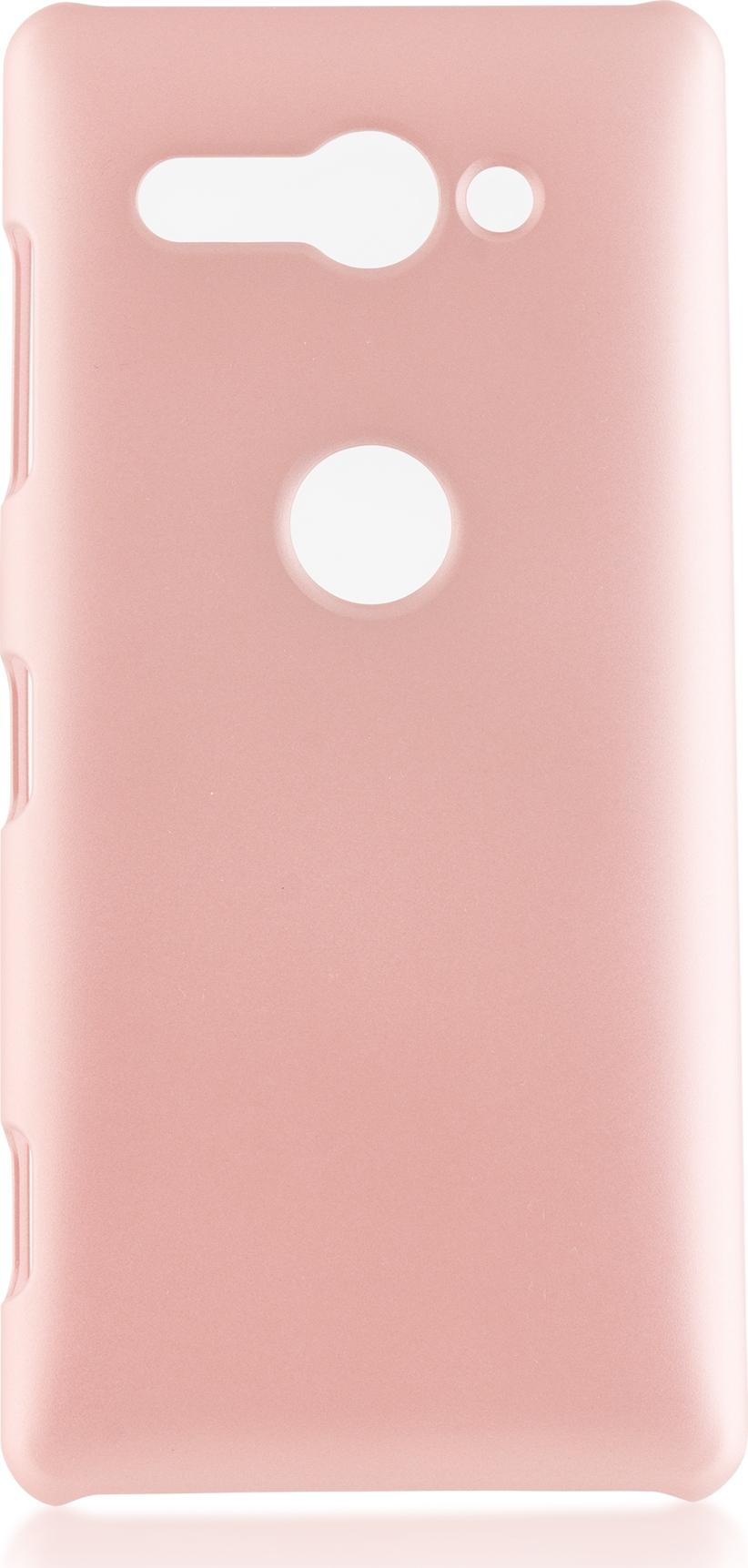 Чехол Brosco Soft-Touch для Sony Xperia XZ2 Compact, розовый чехол для сотового телефона brosco двухсторонний soft touch для sony xz2 xz2 softtouch pink розовый
