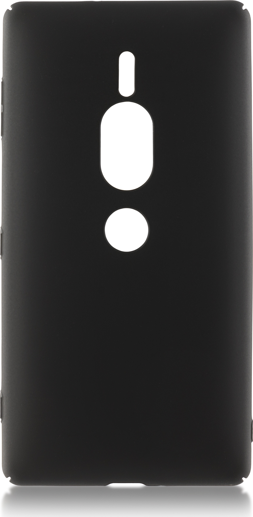 Чехол Brosco 4Side Soft-Touch для Sony Xperia XZ2 Premium, черный чехол brosco colourful для sony xperia xz2 розовый
