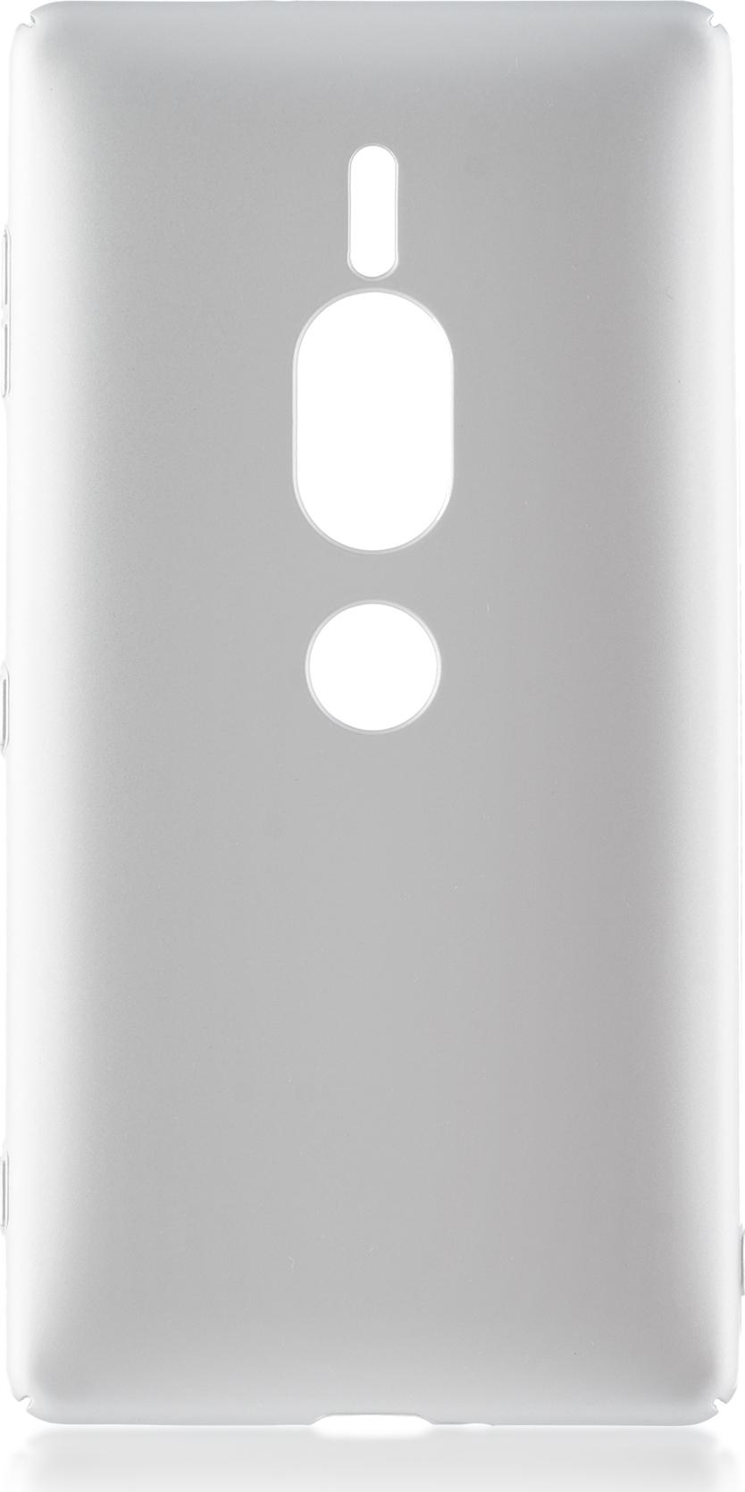 Чехол Brosco 4Side Soft-Touch для Sony Xperia XZ2 Premium, серебристый wierss розовый для sony xz2