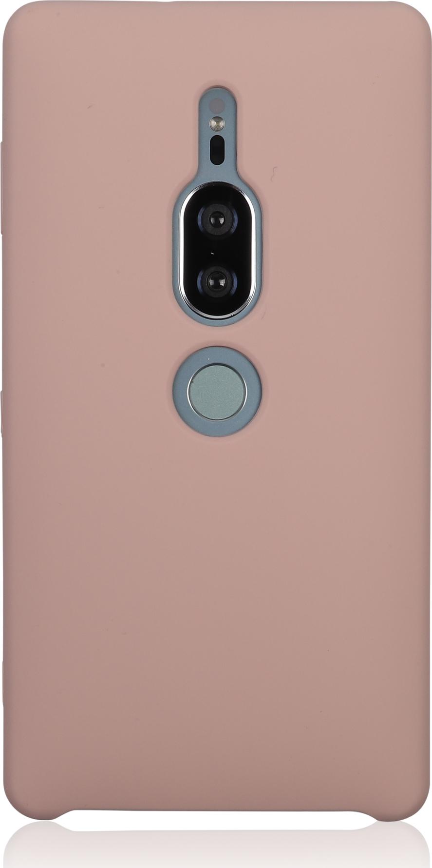 Чехол Brosco Softrubber для Sony Xperia XZ2 Premium, розовый wierss розовый для sony xz2