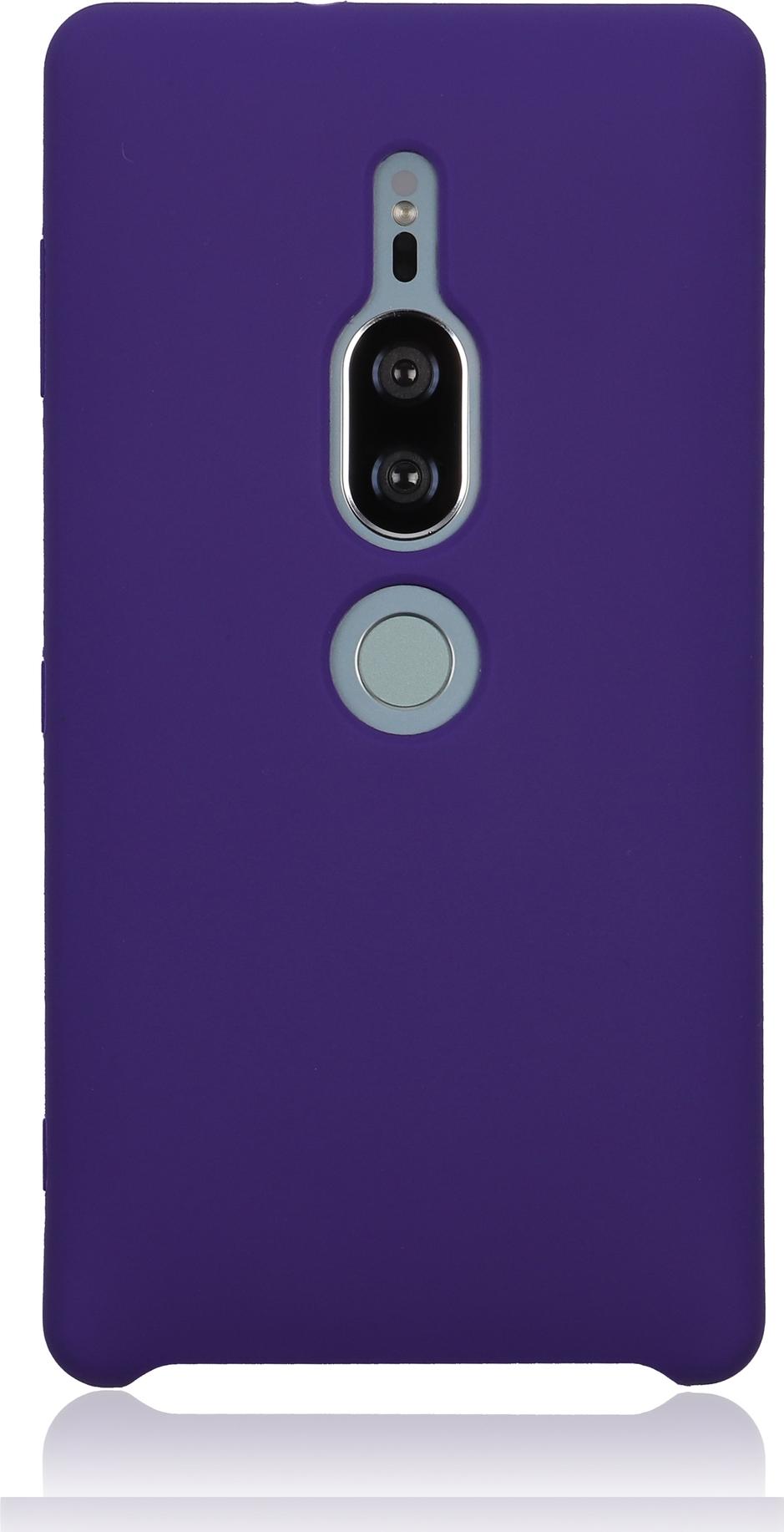 Чехол Brosco Softrubber для Sony Xperia XZ2 Premium, фиолетовый wierss розовый для sony xz2