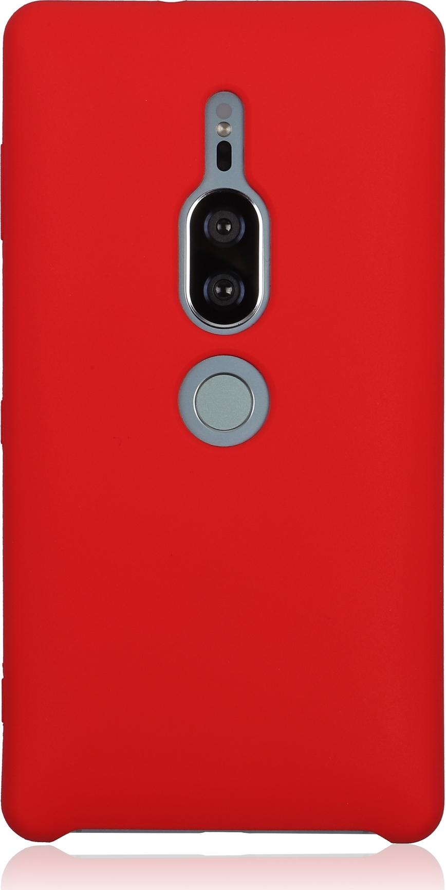 Чехол Brosco Softrubber для Sony Xperia XZ2 Premium, красный wierss розовый для sony xz2