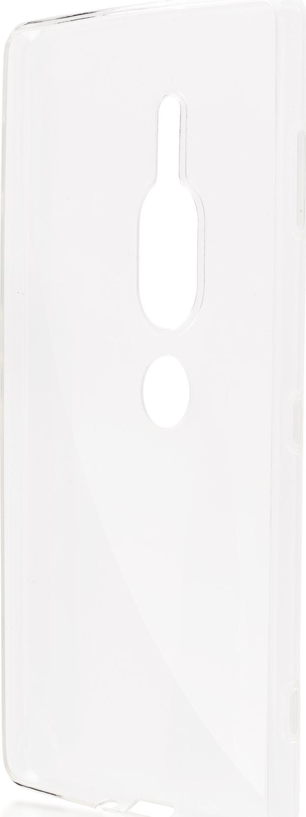 Чехол Brosco TPU для Sony Xperia XZ2 Premium, прозрачный