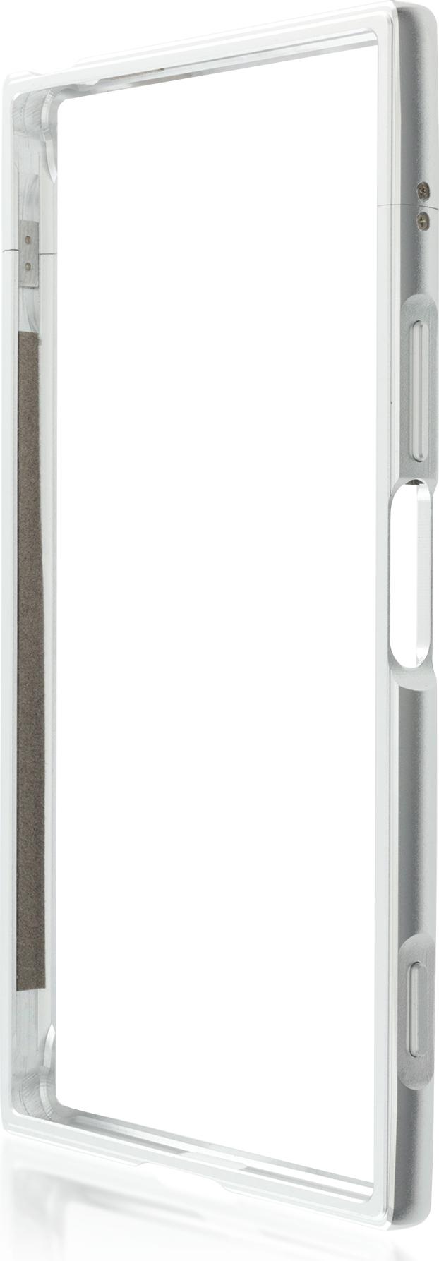 Чехол Brosco BMP для Sony Xperia XZ Premium, серебристый аксессуар чехол sony xperia x brosco silver x bmp silver