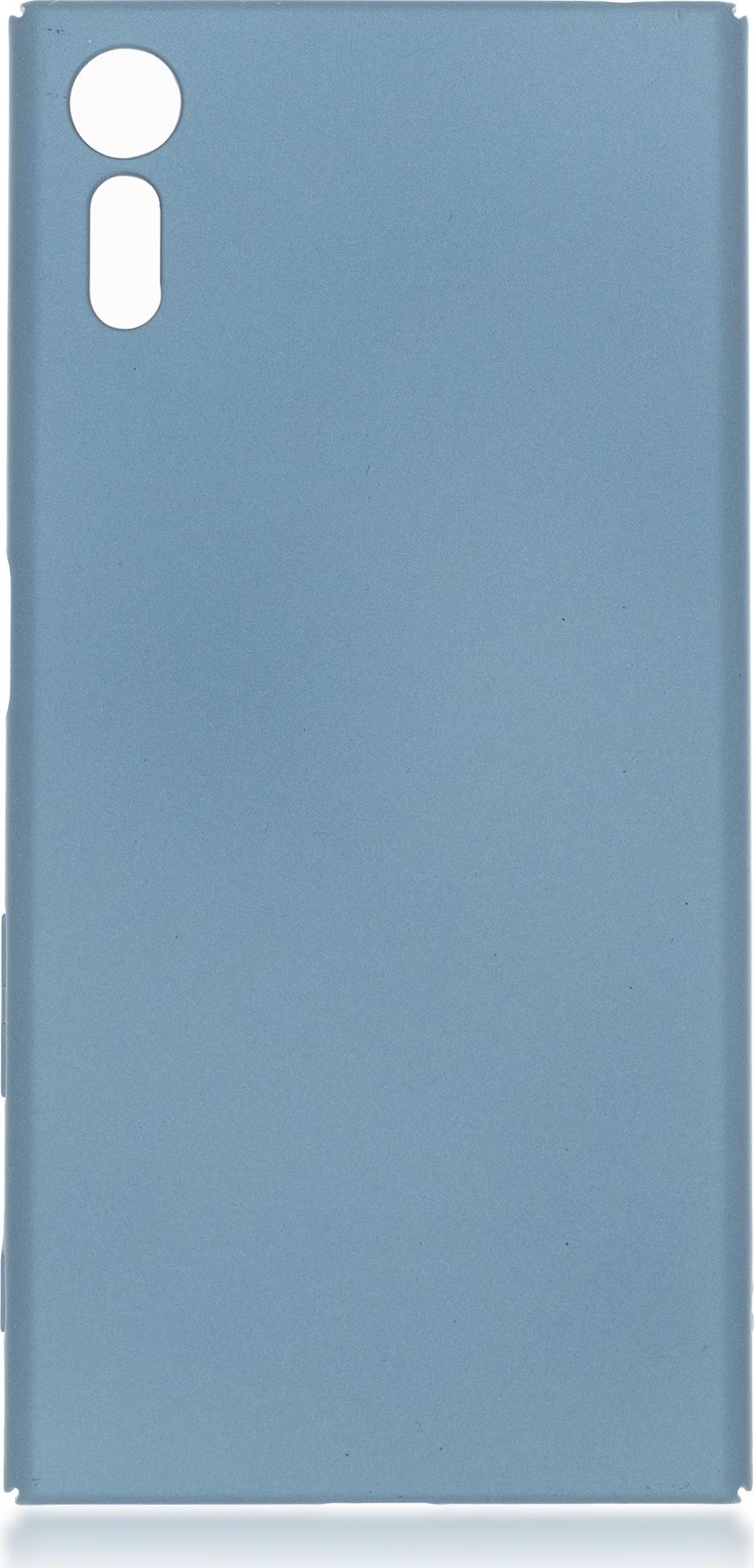 Чехол Brosco 4Side Soft-Touch для Sony Xperia XZs, голубой