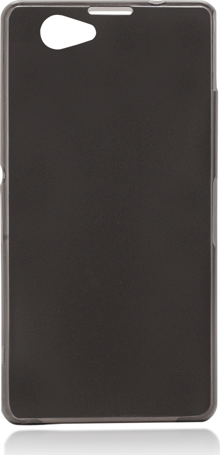Чехол Brosco для Sony Xperia Z1 Compact, черный чехол для sony i4213 xperia 10 plus brosco силиконовая накладка черный