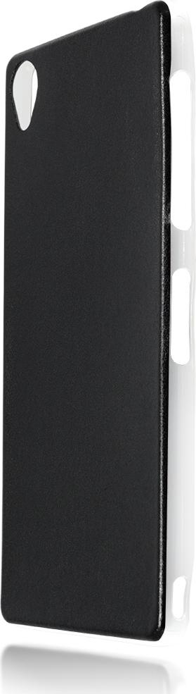 Чехол Brosco Leather TPU для Sony Xperia Z3, черный