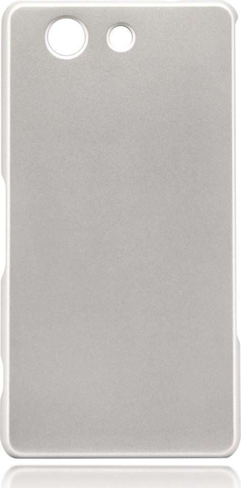 Чехол Brosco Soft-Touch для Sony Xperia Z3 Compact, серебристый