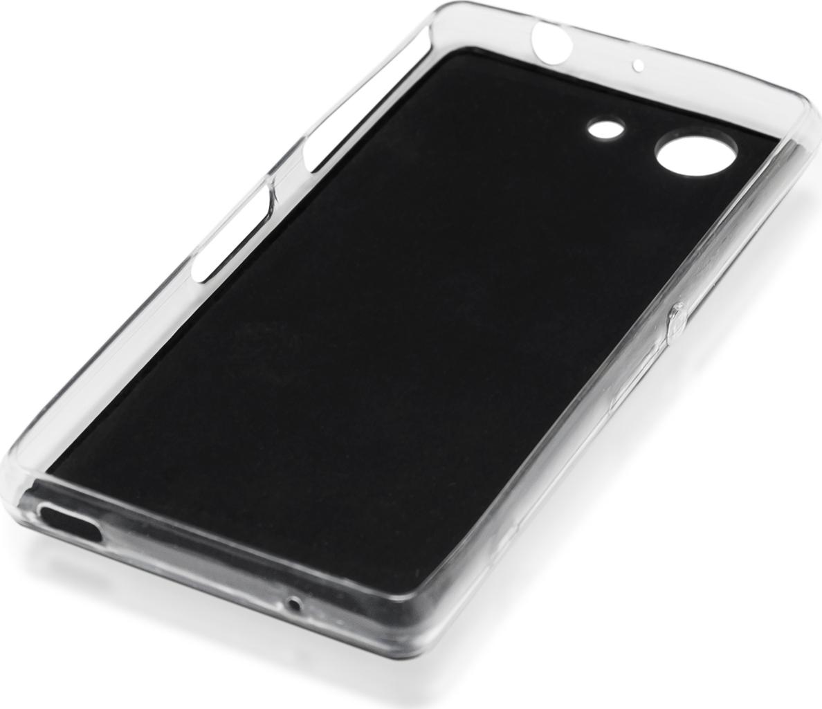 Чехол Brosco Leather TPU для Sony Xperia Z3 Compact, черный