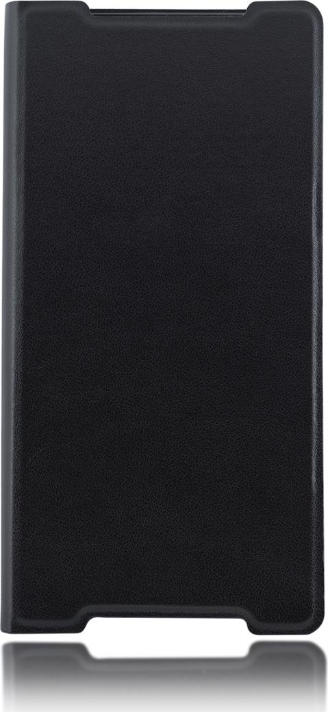 Чехол Brosco Book для Sony Xperia Z5, черный цена