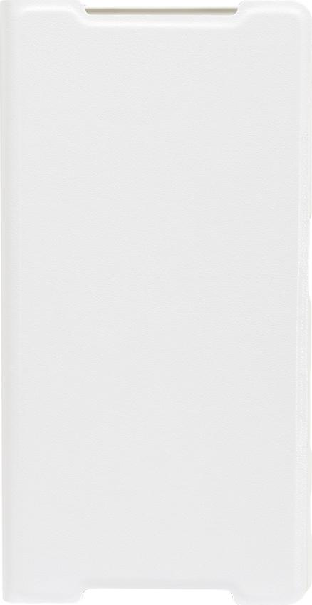 Чехол Brosco Book для Sony Xperia Z5, белый цена