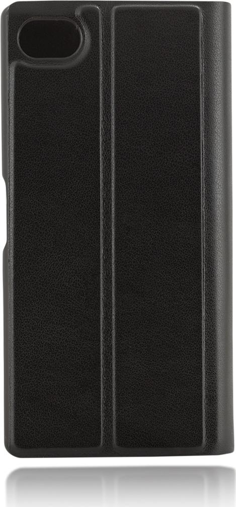 Чехол Brosco Book для Sony Xperia Z5 Compact, черный чехол для sony i4213 xperia 10 plus brosco силиконовая накладка черный