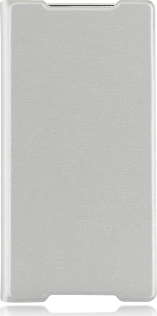 Чехол Brosco Book для Sony Xperia Z5 Premium, серебристый цена
