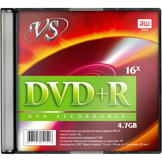 Фото - DVD+R VS Slim case, VSDVDPRSL01 dvd