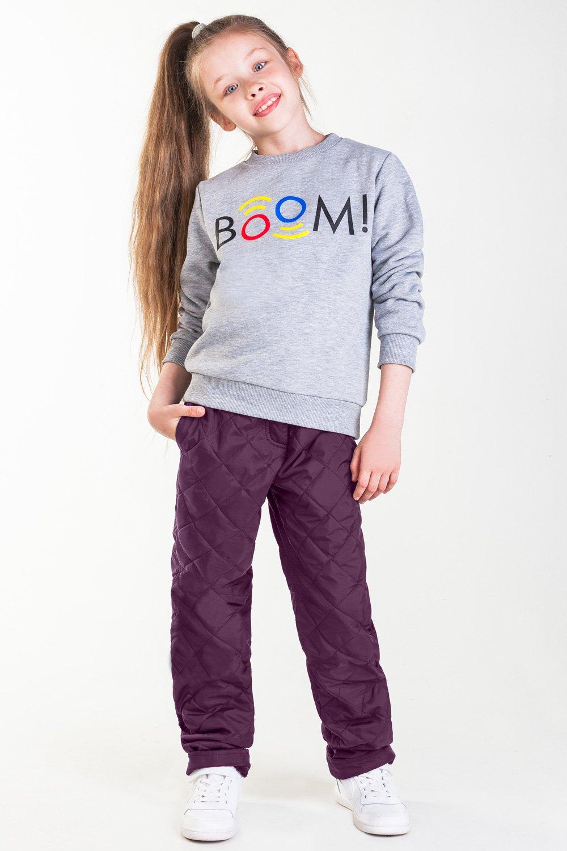 Брюки утепленные для девочки Boom!, цвет: фиолетовый. 90038_BOG. Размер 11690038_BOG