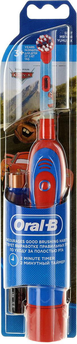Детская электрическая зубная щетка Braun Oral-B Stages Power DB4 Тачки, красный, синий электрическая зубная щетка braun oral b stages power frozen голубой чехол