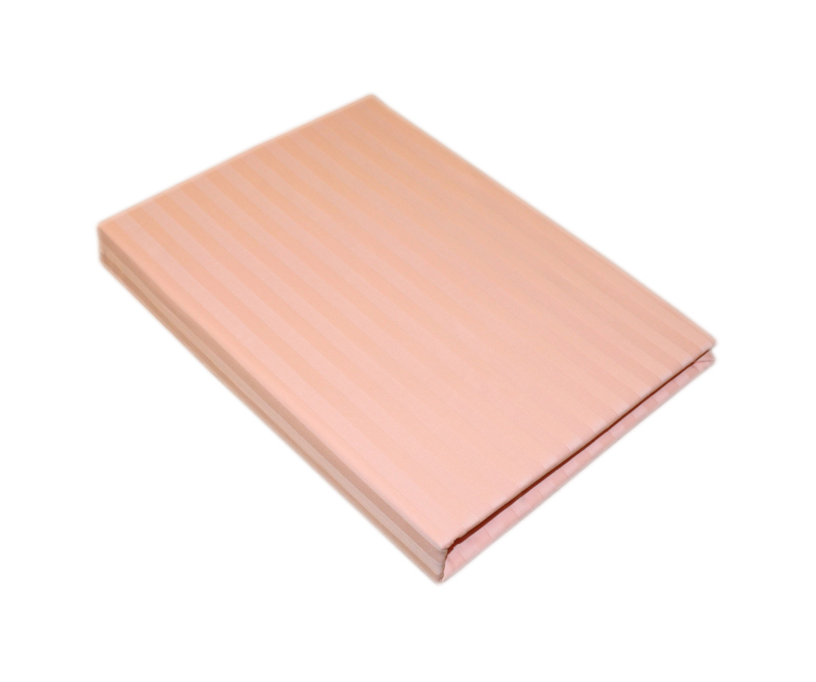 Простыня BegAl На резинке страйп сатин 90x200 светло-розовый