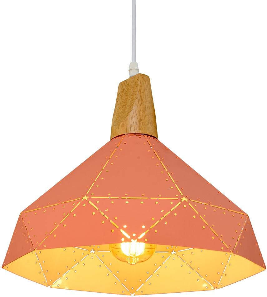 Потолочный светильник МАКСИСВЕТ 5313, 2-5313-1-PK Е27, 335х335х1200, розовый максисвет потолочная люстра максисвет design геометрия 1 1696 4 cr y led