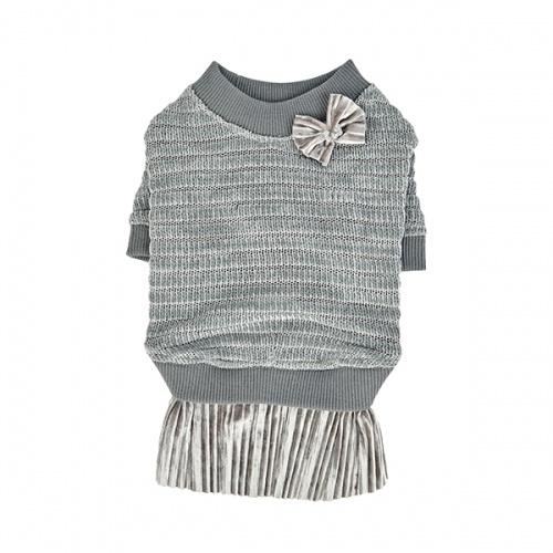 Одежда для собак Pinkaholic (Южная Корея) ELICIA NASD-TS7501-GY-S, серый