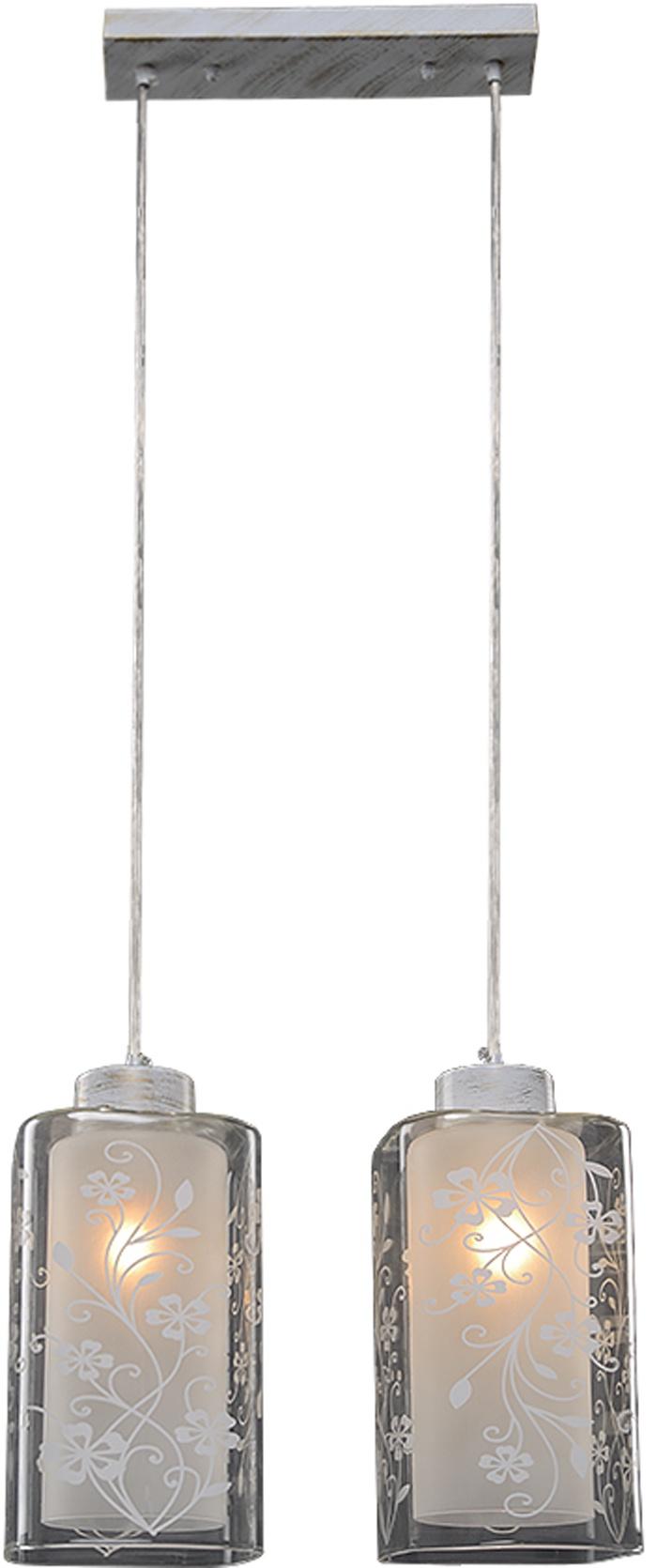 Потолочный светильник МАКСИСВЕТ 4970, 2-4970-2-WHS E27, 340х120х1150, 2-4970-2-WHS E27, белый