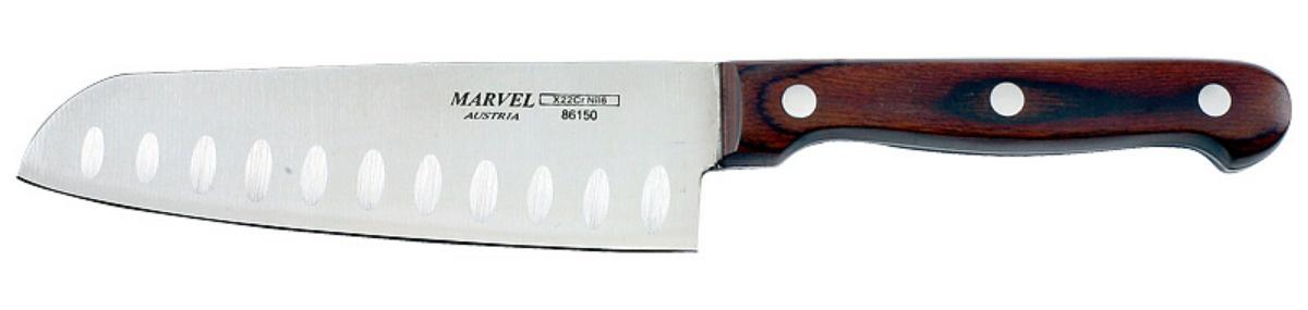 Нож столовый Marvel SANTOKU, длина лезвия 12,5см нож для нарезки мяса marvel santoku series длина лезвия 20 5 см