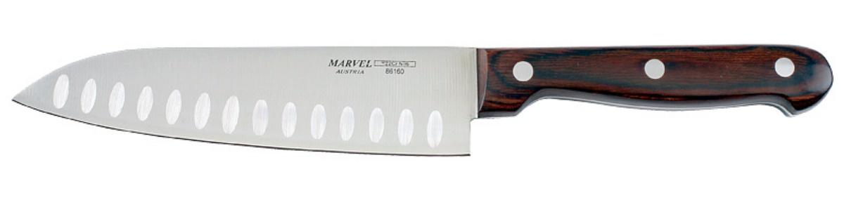 Нож столовый Marvel SANTOKU, длина лезвия 16 см нож для нарезки мяса marvel santoku series длина лезвия 20 5 см