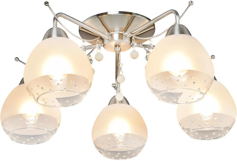 Потолочный светильник МАКСИСВЕТ 8796, 1-8796-5-ST E27, 580х580х235, 1-8796-5-ST E27, серебристый максисвет потолочная люстра максисвет design геометрия 1 1696 4 cr y led