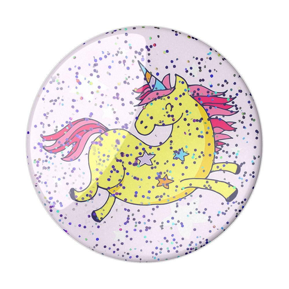 Держатель для телефона PopSockets 800330 (Glttr Jumping UnicornYllw) держатель для телефона popsockets 800329 glttr starry dreams lvndr