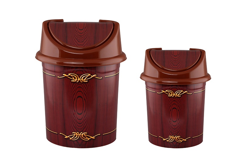 Мусорное ведро Violet с подвижной крышкой 4 л и 8 л, 810367+2, коричневый мусорное ведро violet элегант темный с подвижной крышкой 811452 коричневый бежевый