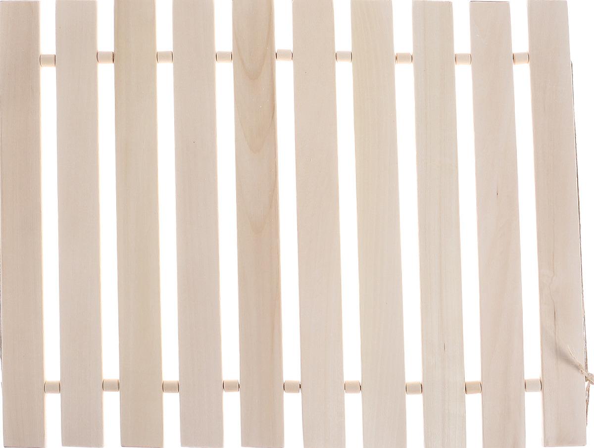 Коврик для бани и сауны Банные штучки, деревянный, 46 х 35 см дверь для бани с фотопечатью банные штучки бурый медведь 32677