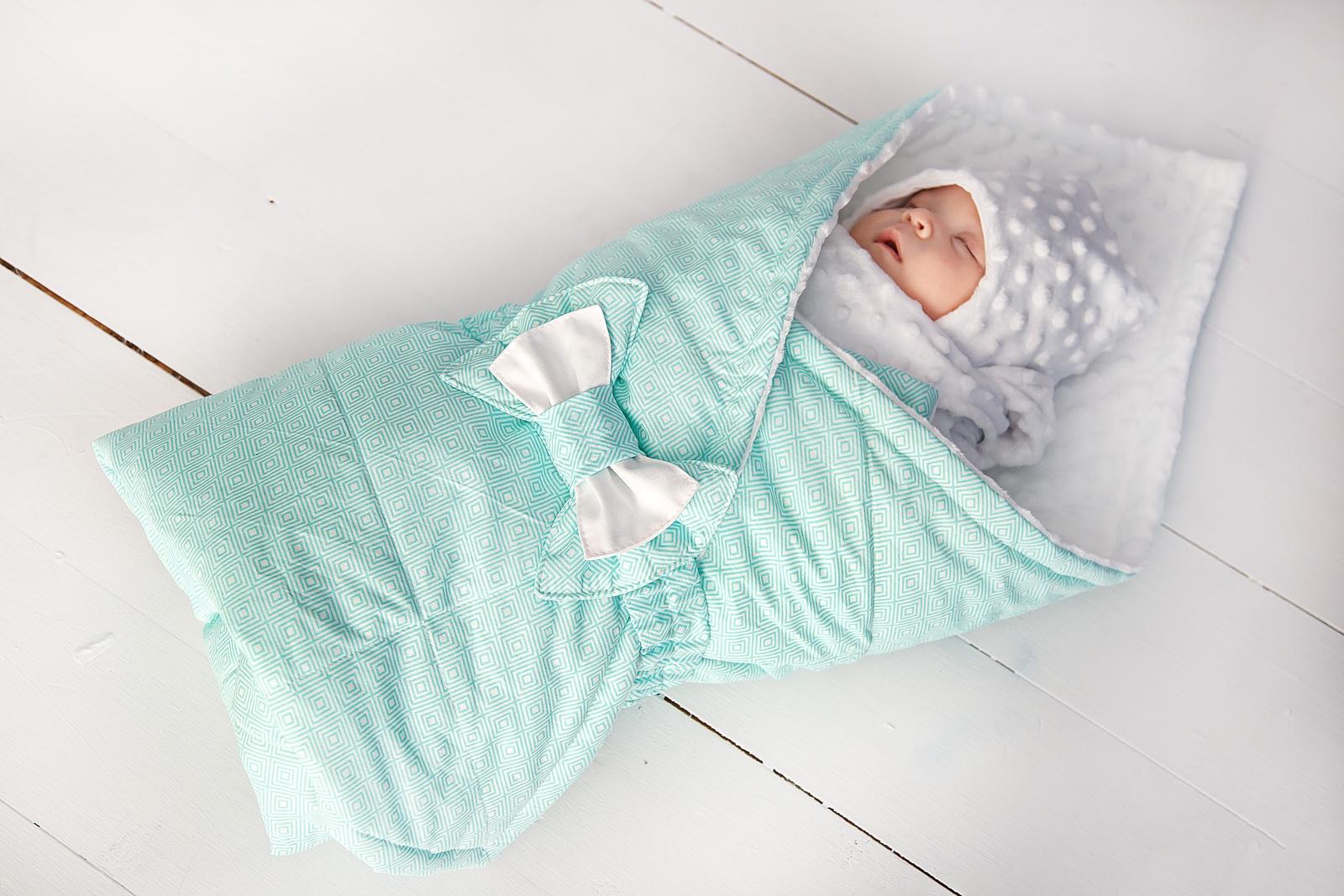 """Одеяло детское SlingMe Конверт-одеяло """"Комфорт"""" , 003-075-2, зеленый"""