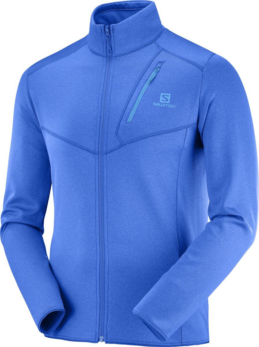 Толстовка мужская Salomon Discovery Fz M, цвет: голубой. LC1061200. Размер L (50)LC1061200Всесезонная мужская толстовка DISCOVERY FZ плотно прилегает к телу. Ее можно надевать под горнолыжную куртку или поверх футболки. Идеальный выбор для тех, кто ищет веселья и приключений круглый год Теплая и универсальная модель, которую можно использовать в качестве промежуточного слоя Утепление Эластичные кромки и манжеты сохраняют воздушную прослойку между кожей и одеждой Эластичность и подвижность Материал одежды растягивается в четырех направлениях, обеспечивая свободу движений Универсальность Сложно найти более универсальный промежуточный слой. Эту одежду можно носить круглый год, под курткой или отдельно — в зависимости от сезона и уровня нагрузки.