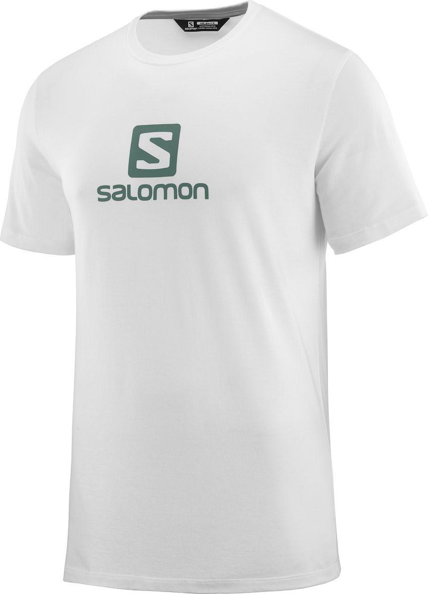 Футболка Salomon Coton Logo Ss футболка хлопковая nike tee club19 ss aj1504 451