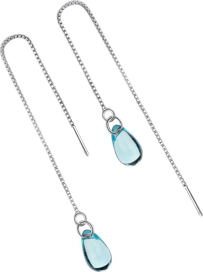 Серьги Ice&High, латунный сплав, серебро, кристаллы swarovski, ZS888828