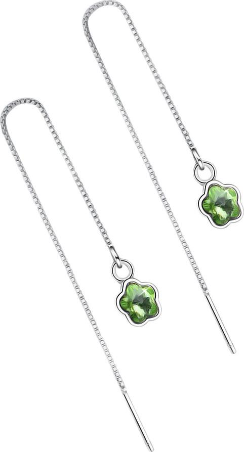Серьги Ice&High, латунный сплав, серебро, кристаллы swarovski, ZS888831G
