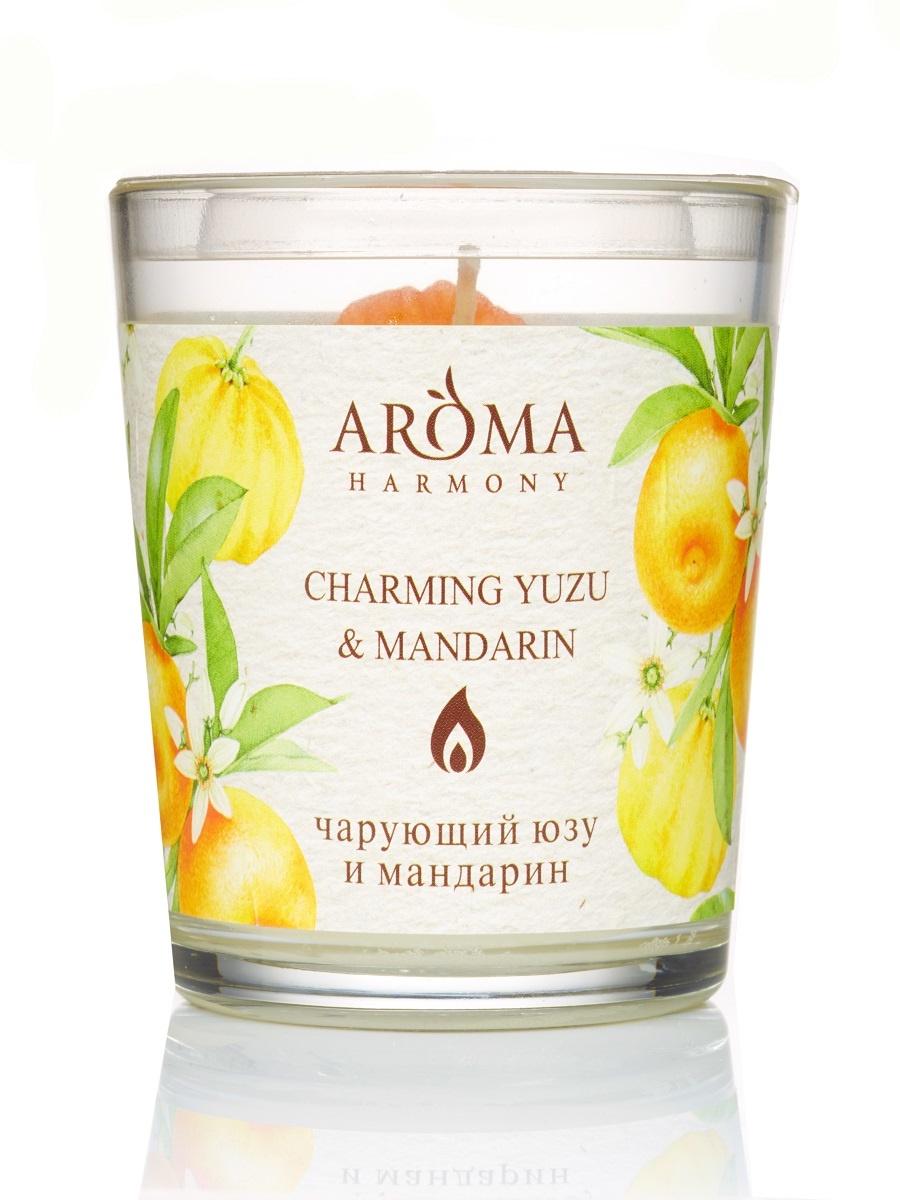 Свеча Ароматическая Юзу и мандарин, 160 гр свеча и вода воск