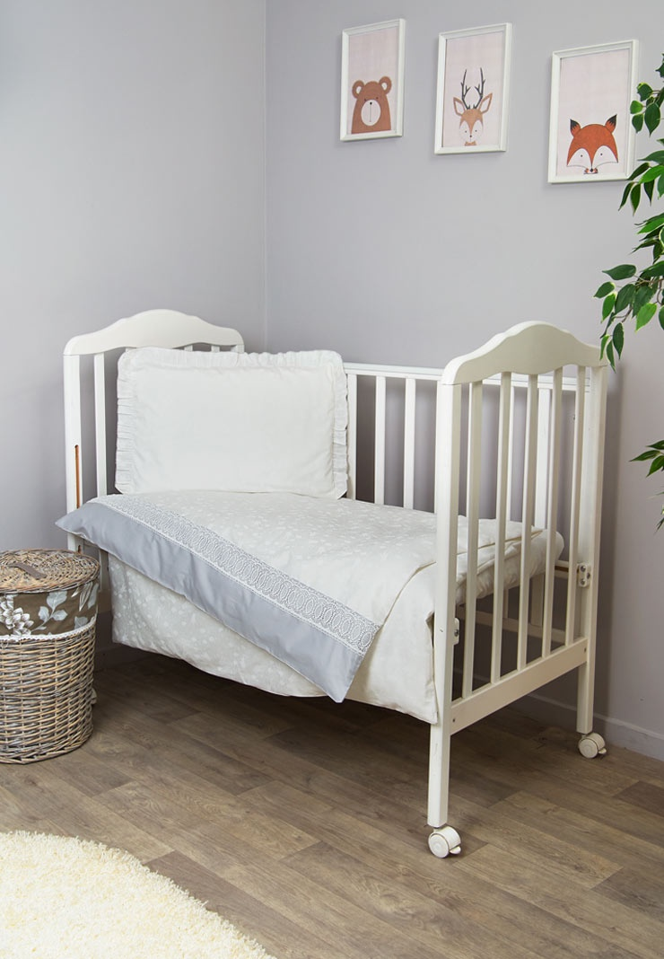 Комплект белья для новорожденных Сонный гномик Тридцать три Короны, 319, белый