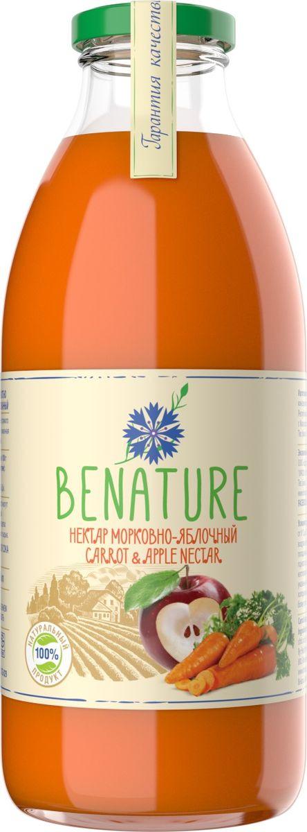 Нектар BeNature морковно-яблочный, 730 мл миша нектар морковь яблоко 0 33 л