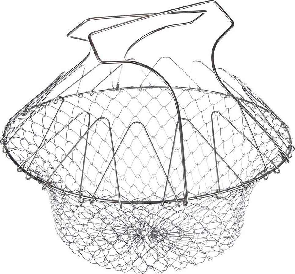 Фритюрница Vetta, 822098, серый, диаметр 23 см корзину для жарки во фритюре
