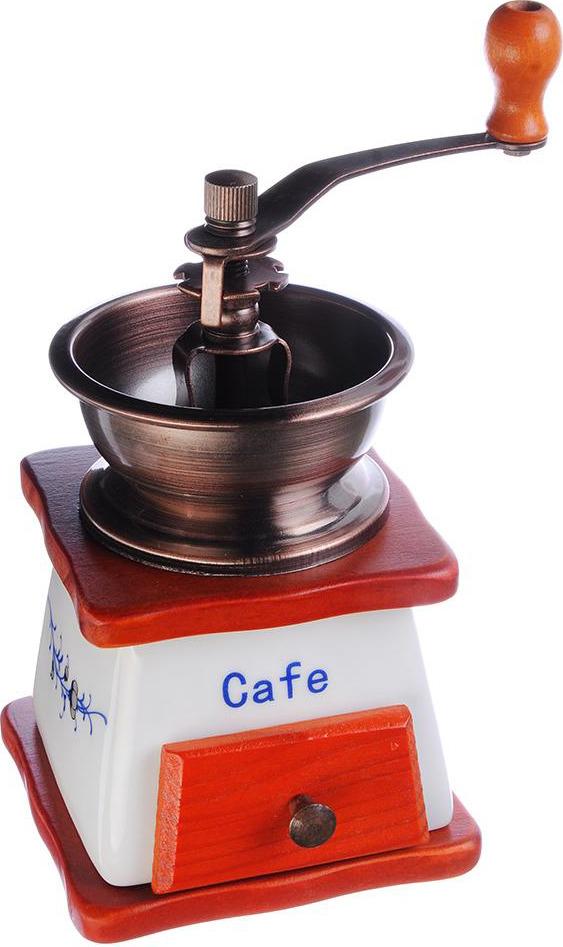 Ручная кофемолка N/N, 827002, коричневый, 10 х 10 х 17.5 см кофемолка n n с деревянным основанием