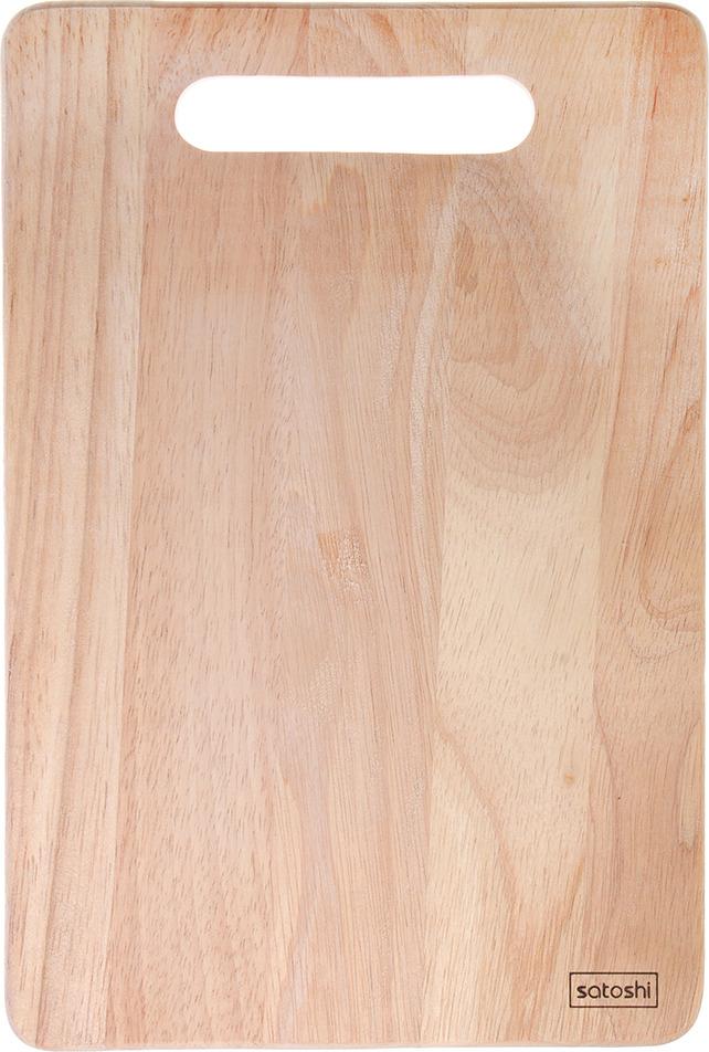 Фото - Разделочная доска Satoshi, 851161, коричневый, 30 х 20 х 1 см [супермаркет] jingdong геб scybe фил приблизительно круглая чашка установлена в вертикальном положении стеклянной чашки 290мла 6 z