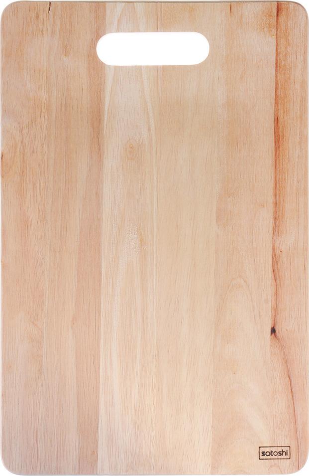 Фото - Разделочная доска Satoshi, 851163, коричневый, 38 х 25 х 1 см [супермаркет] jingdong геб scybe фил приблизительно круглая чашка установлена в вертикальном положении стеклянной чашки 290мла 6 z