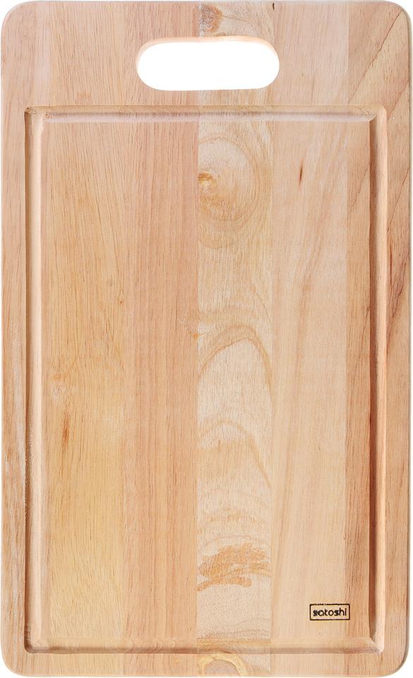 Фото - Разделочная доска Satoshi, 851170, коричневый, 43 х 26 х 1.5 см [супермаркет] jingdong геб scybe фил приблизительно круглая чашка установлена в вертикальном положении стеклянной чашки 290мла 6 z