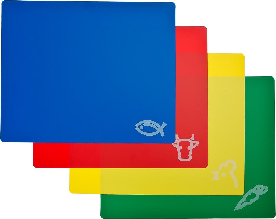 Фото - Набор разделочных досок N/N, 852097, разноцветный, 30 х 27 см, 4 шт [супермаркет] jingdong геб scybe фил приблизительно круглая чашка установлена в вертикальном положении стеклянной чашки 290мла 6 z