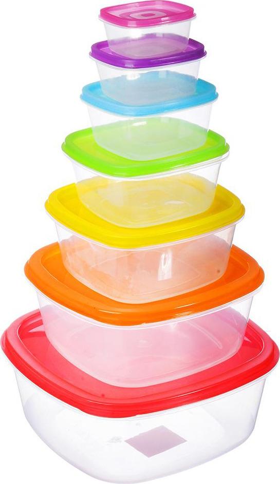 Набор контейнеров для продуктов N/N, 861234, разноцветный, 7 шт набор кулинарный n n 856034 белый 6 предметов