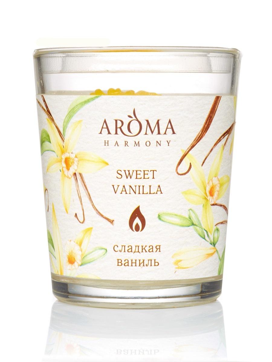 Свеча Ароматическая Сладкая ваниль, 160 гр свеча медитация aroma naturals