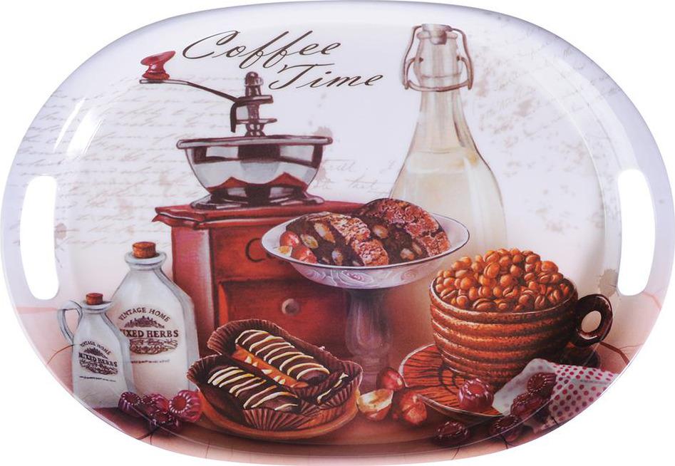 Поднос Vetta Десерт, 862390, коричневый, 38.5 х 27 х 3 см862390Поднос из пластика - легкий и незаменимый помощник на кухне каждой хозяйки. Он отлично подойдет для сервировки, переноса посуды или продуктов, компактного хранения и т.п. Поднос выполнен из качественных материалов, абсолютно безопасен для использования.